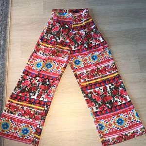PLT high waisted wide leg pants